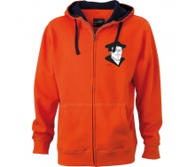 Men´s Lifestyle Zip-Hoody dark orange