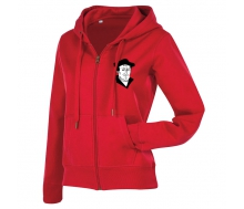 Active Sweatjacket Women crimson red