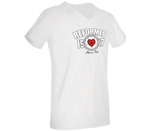 Mens´s V-Neck T-Shirt white