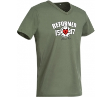 Mens´s V-Neck T-Shirt military green